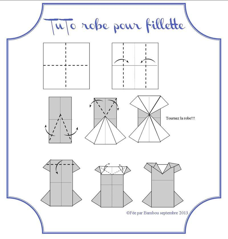 tutoriel origami robe