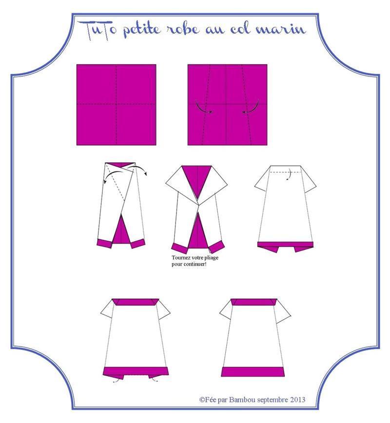 explication origami robe. Black Bedroom Furniture Sets. Home Design Ideas