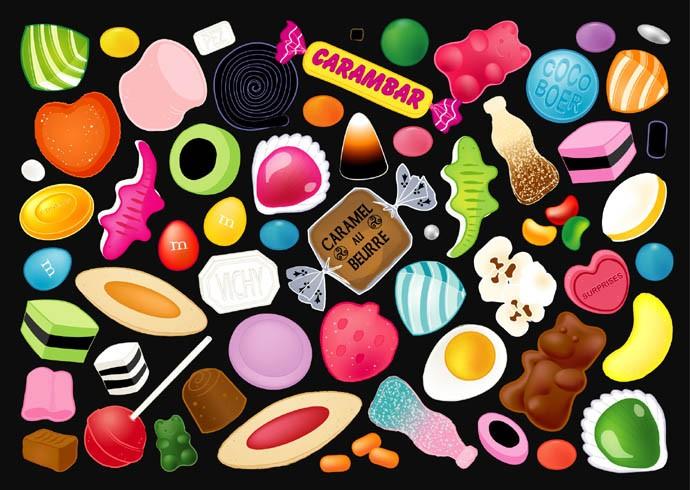 Les bonbons c 39 est trop bon - Bonbon en dessin ...